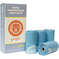 Zenify Pets Compostable Dog Poo Bags (60 Bags) - Certified Compostable Biodegradable Waste - Australian Owned