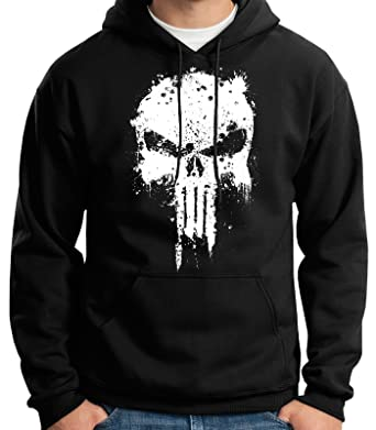 35mm - Sudadera con Capucha - The Punisher - Mancha - Hoodie, Negra, XXL: Amazon.es: Ropa y accesorios