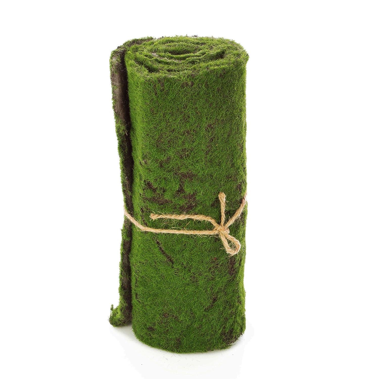 Artplants Tapiz de Musgo Artificial, Verde marrón, 97x29 cm - Alfombra de Musgo/Rollo