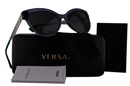 bf42d8d10c Amazon.com  Versace VE4338 Sunglasses Violet Crystal w Gray Lens ...