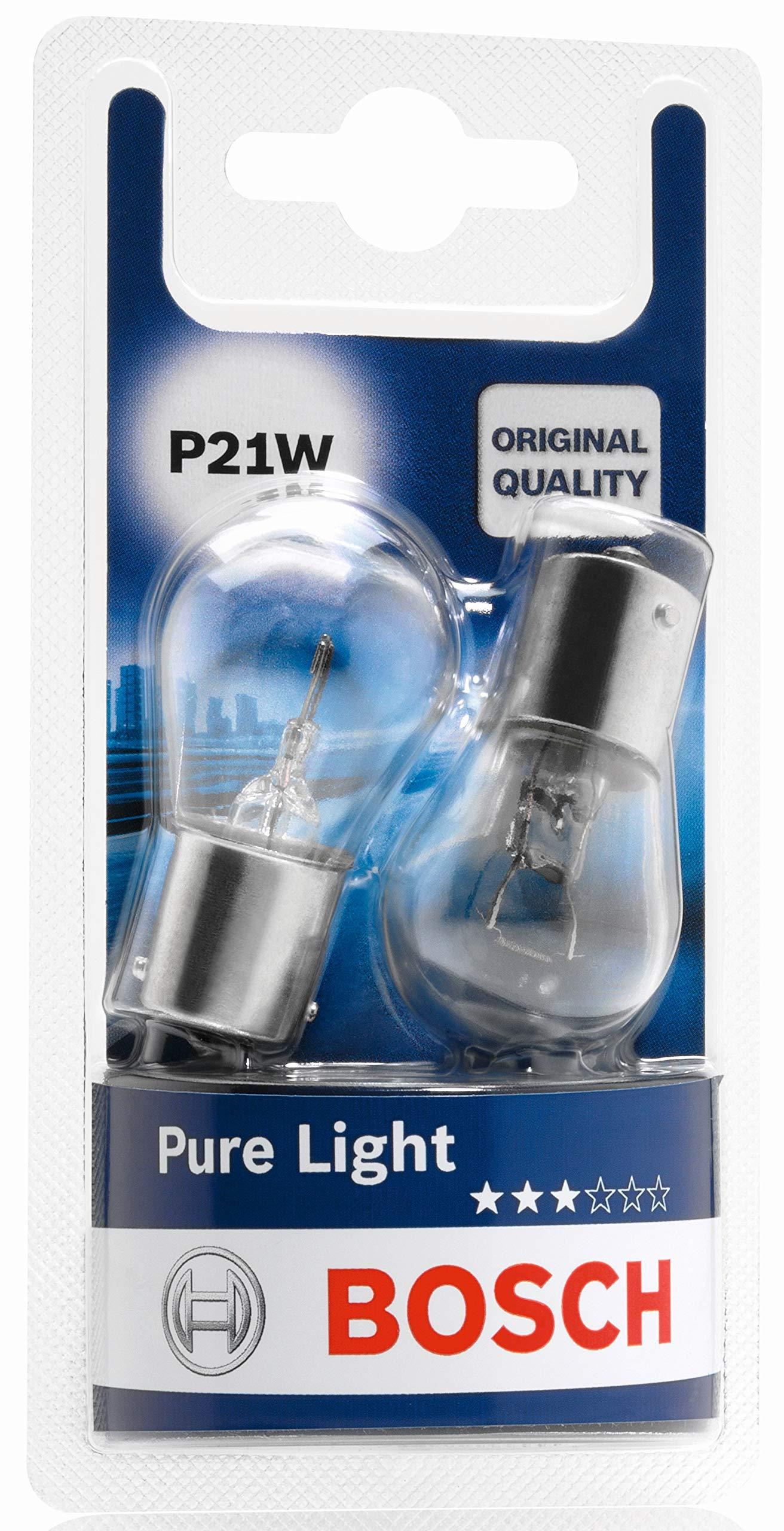 Licence Plate Light Bosch 1987301017 Car Light Bulb Taillight P21W Pure Light Turn Signal Brake Light