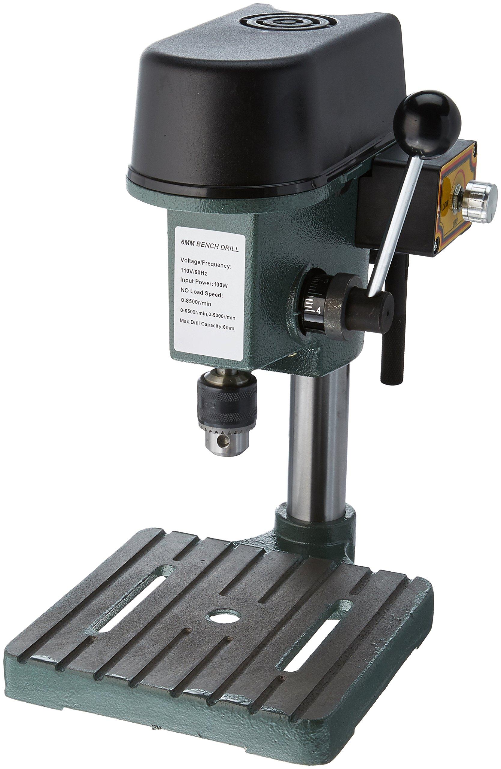 Gino Development 01-0822 0-8500 rpm TruePower Precision Mini Drill Press with 3 Range Variable Speed Control, 1/4''