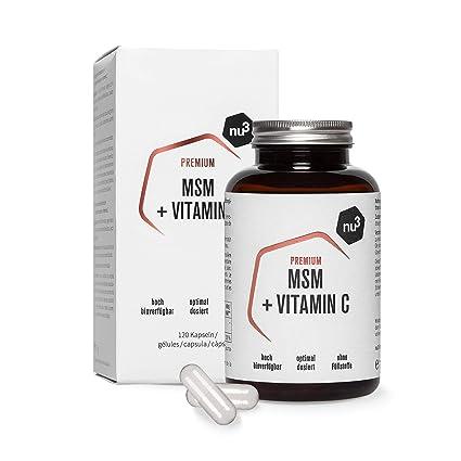 nu3 MSM Premium - Azufre orgánico puro - 120 cápsulas ...