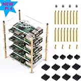 4 Layers Clear Stackable Case For Raspberry Pi 4 Model B, Pi 3 B+, Pi 3b Case with Heatsink
