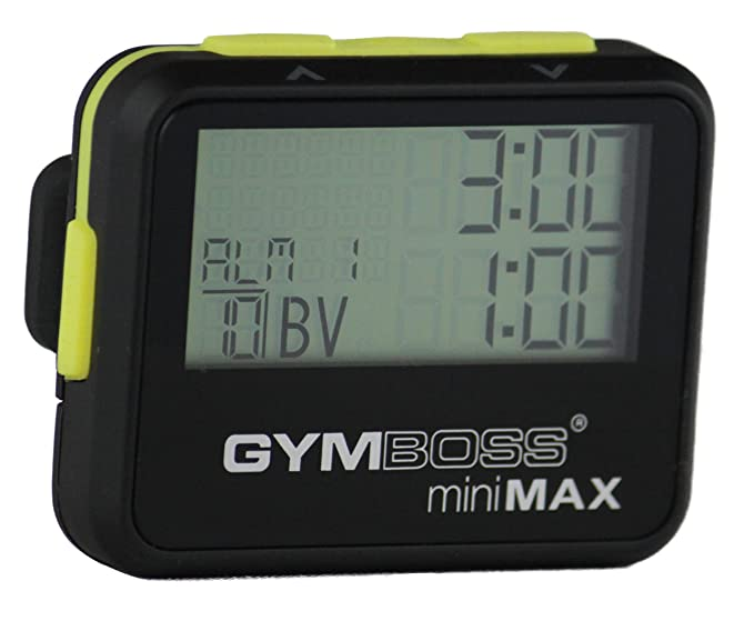 Gymboss miniMAX - Temporizador y cronómetro, color negro y amarillo