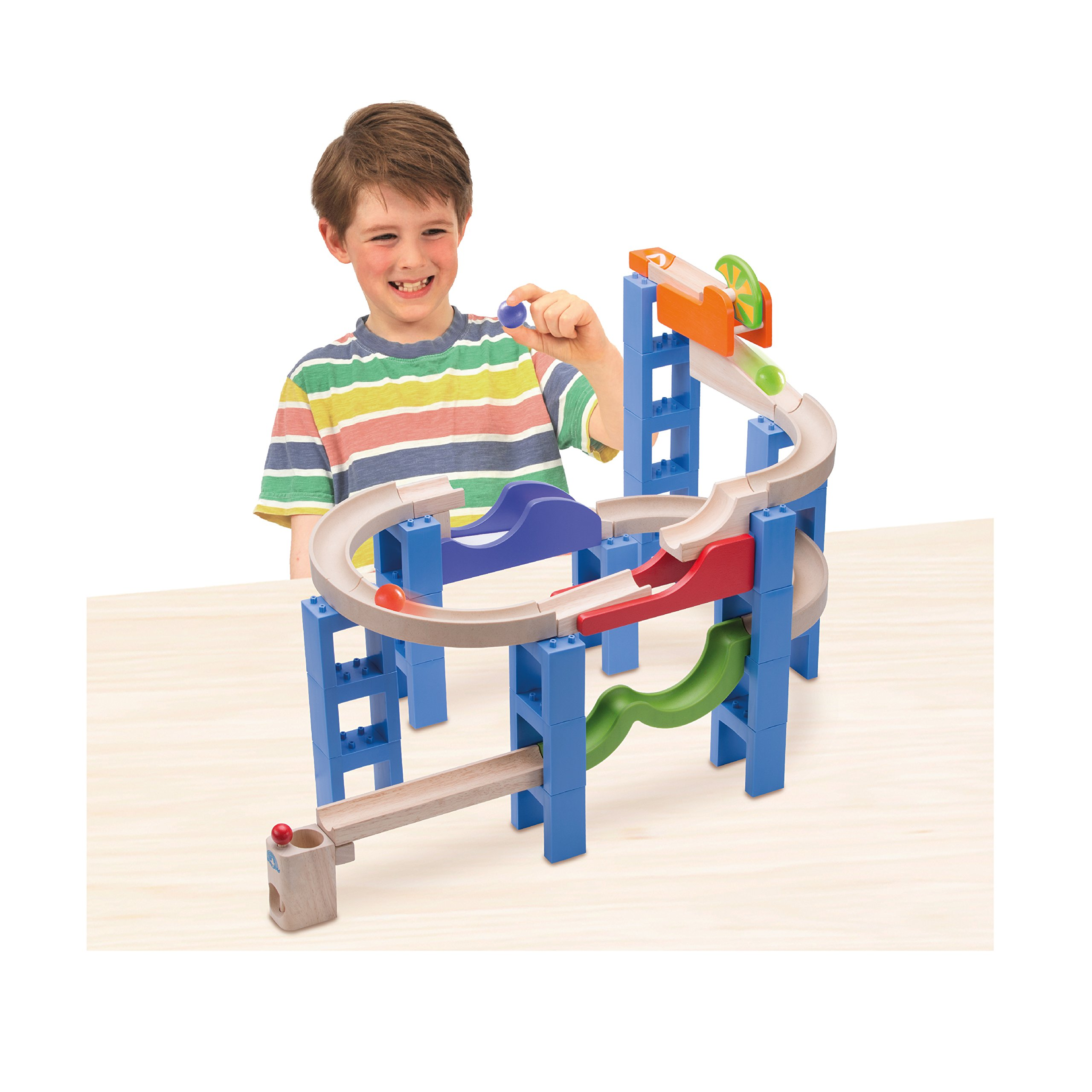 Wonderworld Creative Gravity Play! Trix Tracks Bouncing Spiral Track - 36 Piece Set Unique Kids Toy with Endless Building Options