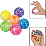 Fun Express Mini Neon Swirl Bouncing Balls - 48 Pieces
