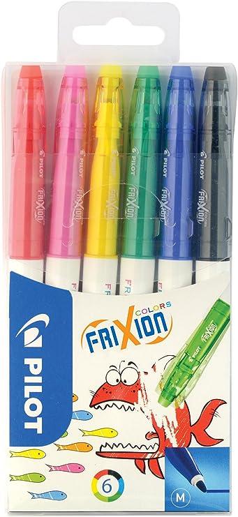 Pilot Frixion - Pack de 6 rotuladores: Amazon.es: Oficina y papelería