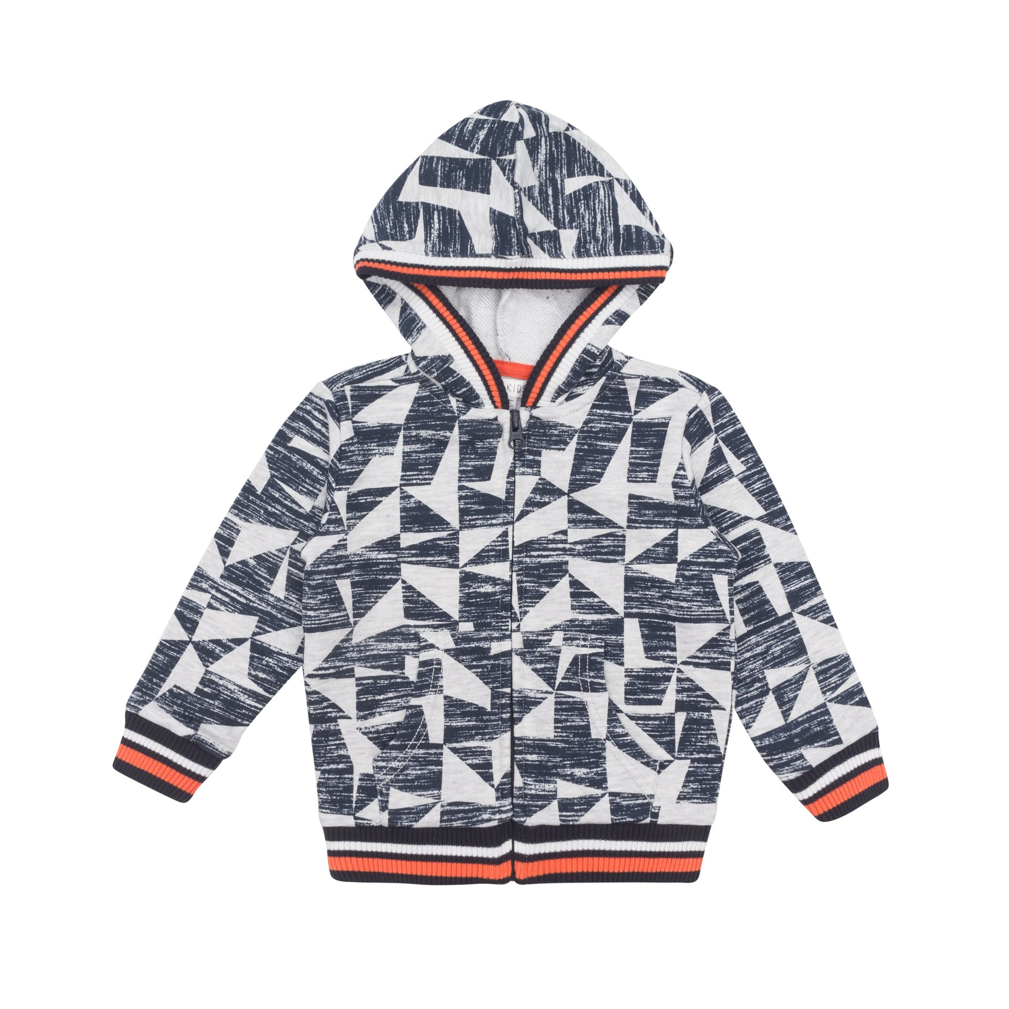 Petit Lem Big Hooded Sweater Top for Boys, Comfortable and Stylish, Light Heather Gray, 5