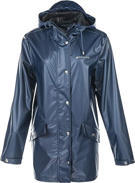 Festival Whistler Penhurst Damen PU Long-Jacke mit Kapuze Regenmantel Regenjacke Windbreaker f/ür Outdoor Camping Trekking