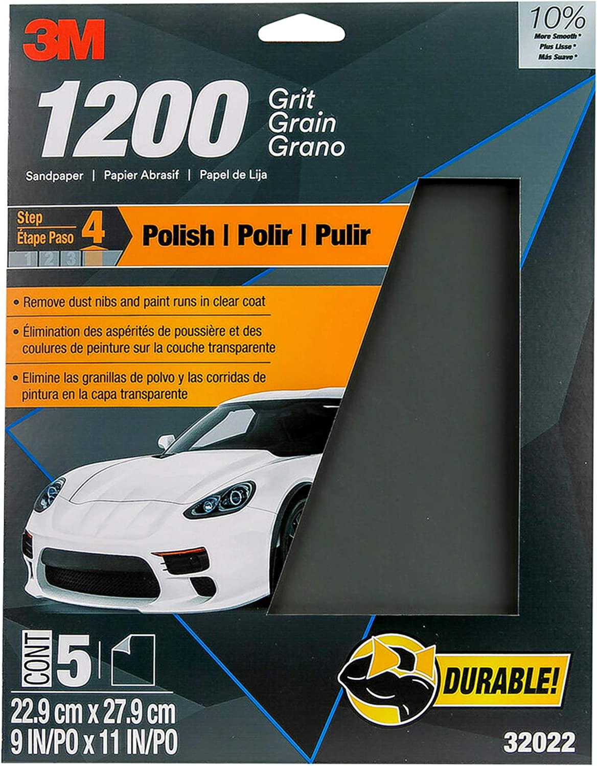 Pack of 20 3M 32022 Imperial Wetordry 9 x 11 1200 Grit Sheet