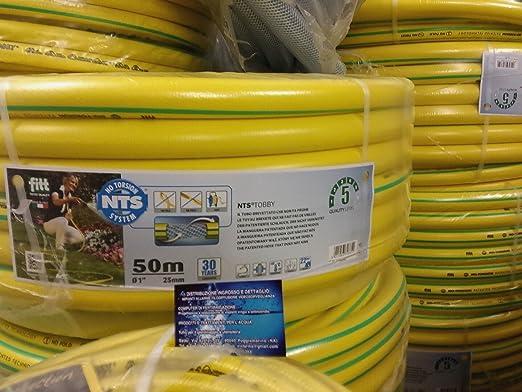 NTS-Manguera de jardín No Torsion System 50 Mt. int diámetro 25 mm=1