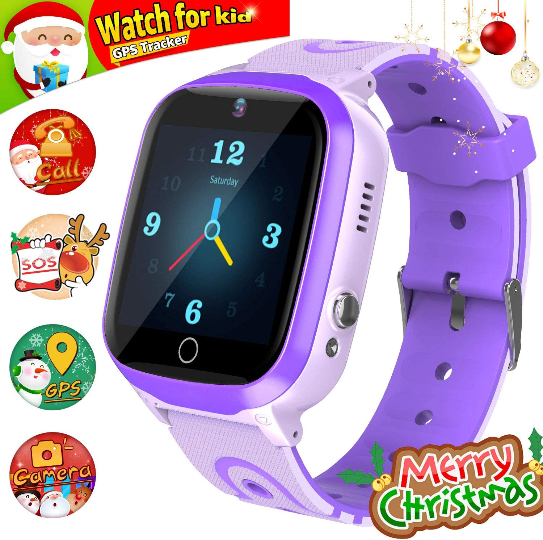 Kids Smart Watch for Boys Smartwatch WiFi/GPS Tracker Watch, Kids GPS Tracker Watch Activity Tracker Digital Watch, Touch Screen HD Camera Pedometer ...