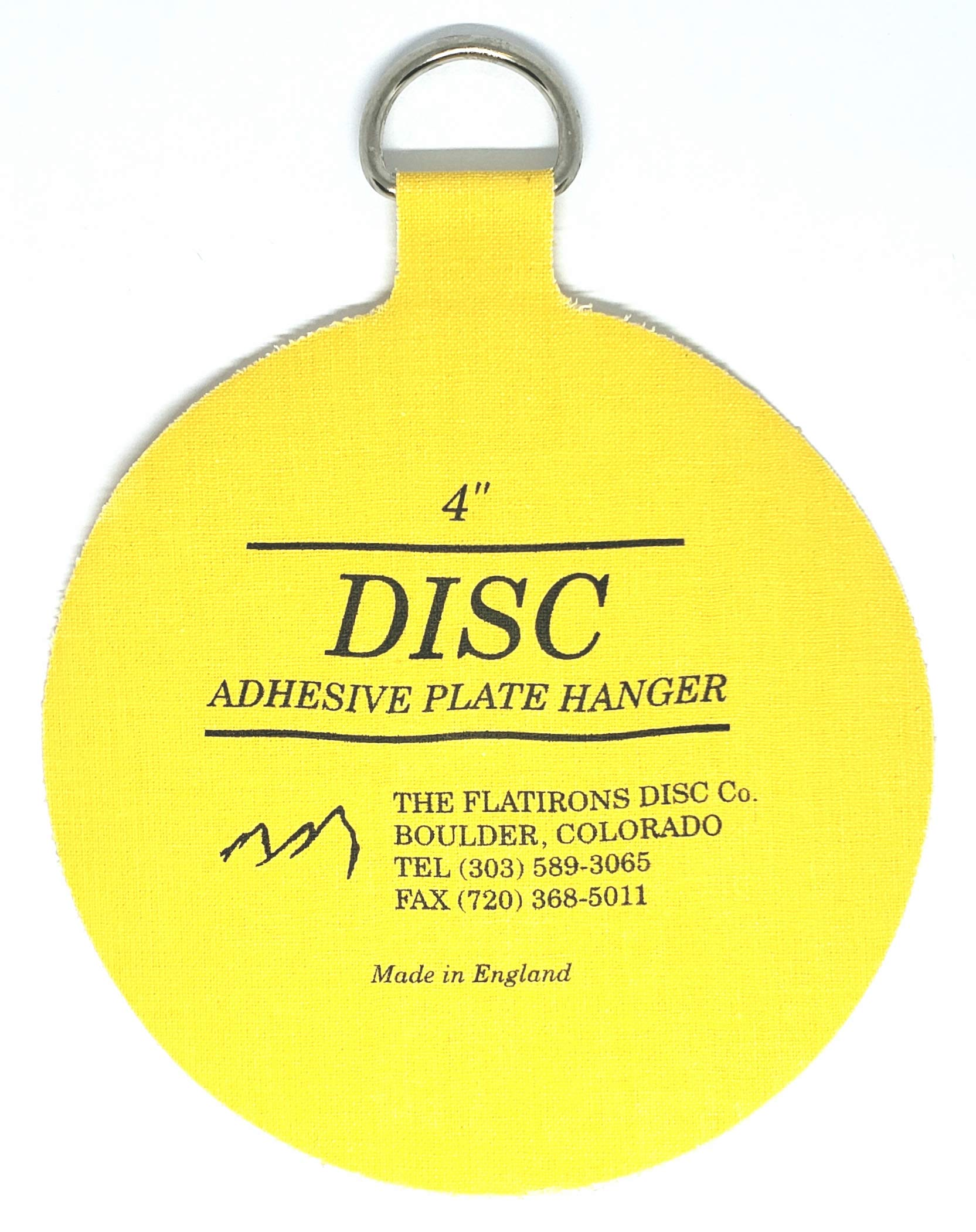 Flatirons Disc - Invisible English Disc - Adhesive Plate Hanger, 4 inch - (10 Pack) by The Flatirons Disc Co