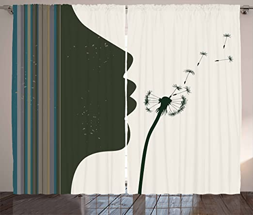 Elegant Four Dandelions 3D Blockout Photo Printing Curtains Draps Fabric Window