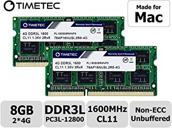 Timetec Hynix IC Apple 8GB Kit (2x4GB) DDR3 1600MHz PC3-12800 ...