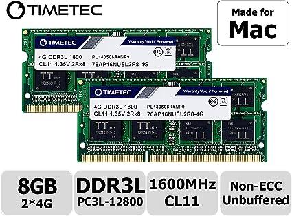 Timetec Hynix IC Apple 8GB Kit (2x4GB) DDR3 1600MHz PC3-12800 ...