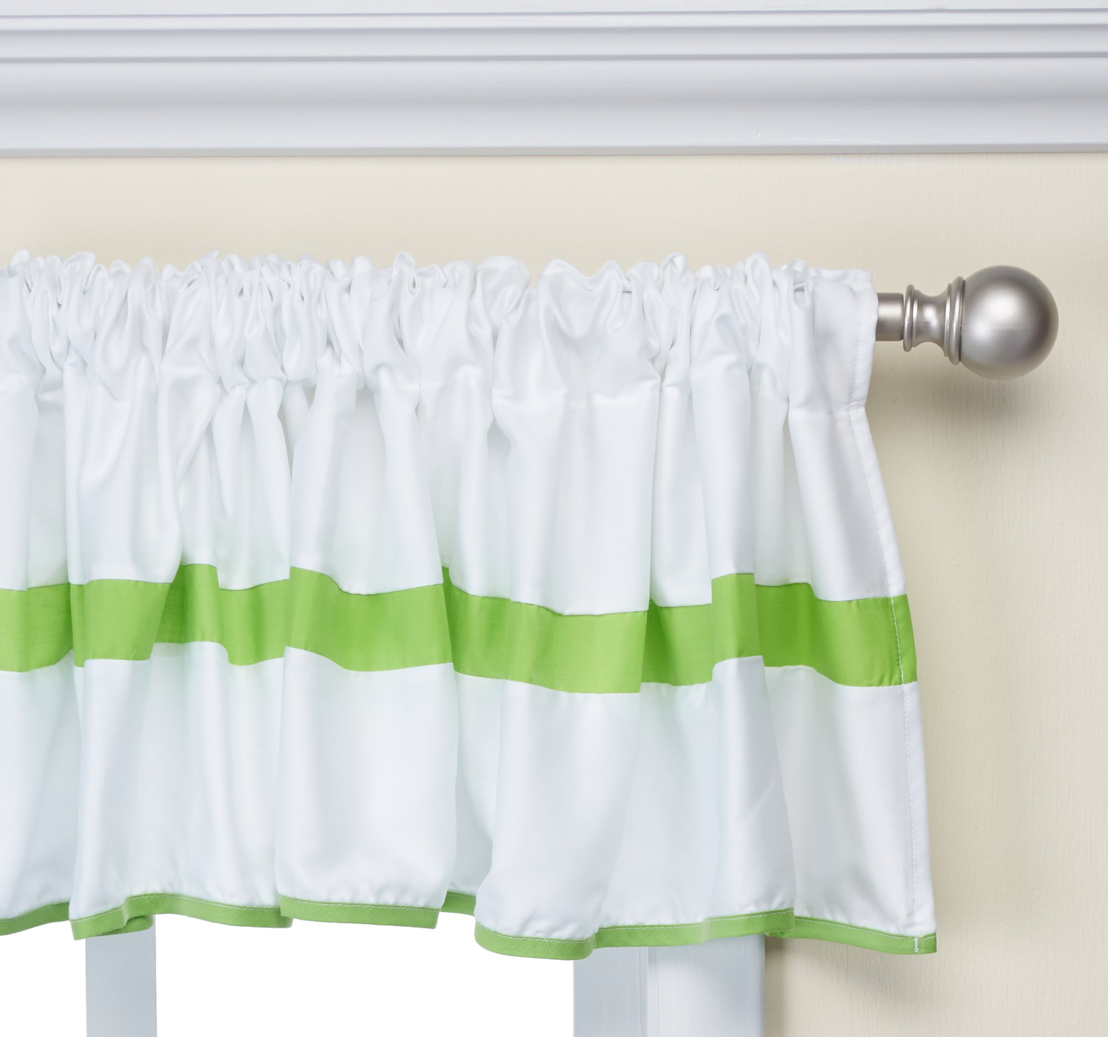 Baby Doll Bedding Modern Hotel Style Window Valance, Green Apple