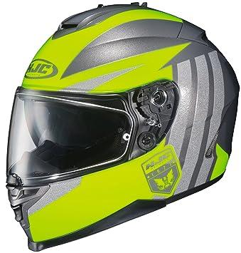 Amazon.com: HJC IS-17 Grapple Full-Face Motorcycle Helmet (Hi Viz/Silver, XX-Large): Automotive