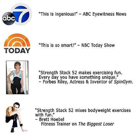 Tarjetas de ejercicios de peso corporal de Stack 52: Amazon.es: Juguetes y juegos