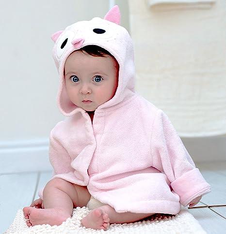 Baño conejo búho bebé albornoz algodón: Amazon.es: Bebé