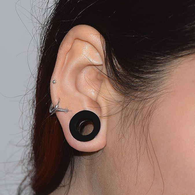 D&M Jewelry 9 Pares de Silicona Suave 8G-1