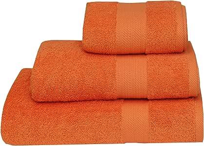 Nimsay Home - Toalla de rizo (100% algodón egipcio, 600 g/m²), algodón egípcio, Naranja, de mano: Amazon.es: Hogar