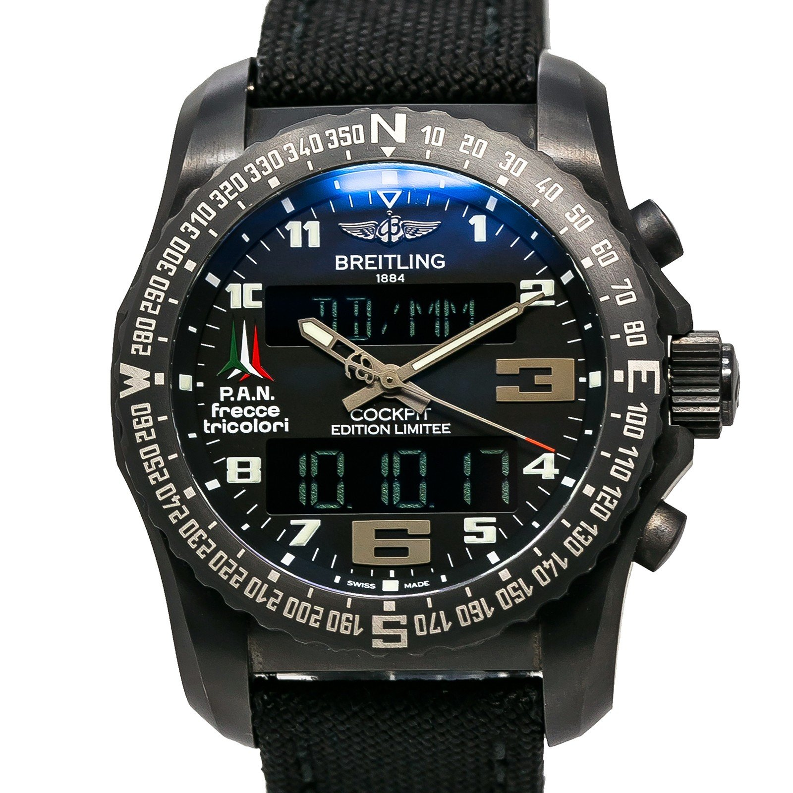 Breitling Cockpit swiss-quartz mens Watch VB5010 (Certified Pre-owned) by Breitling (Image #4)