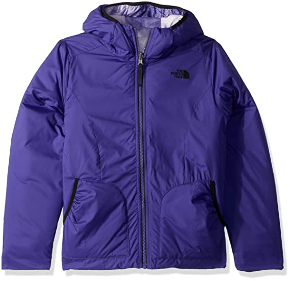 814eda7df9f6 The North Face Girls Reversible Perrito Jacket - Deep Blue - S   Amazon.co.uk  Clothing