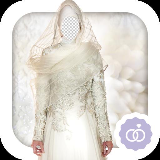Idea Dress Fancy (Hijab Wedding Dress Montage)
