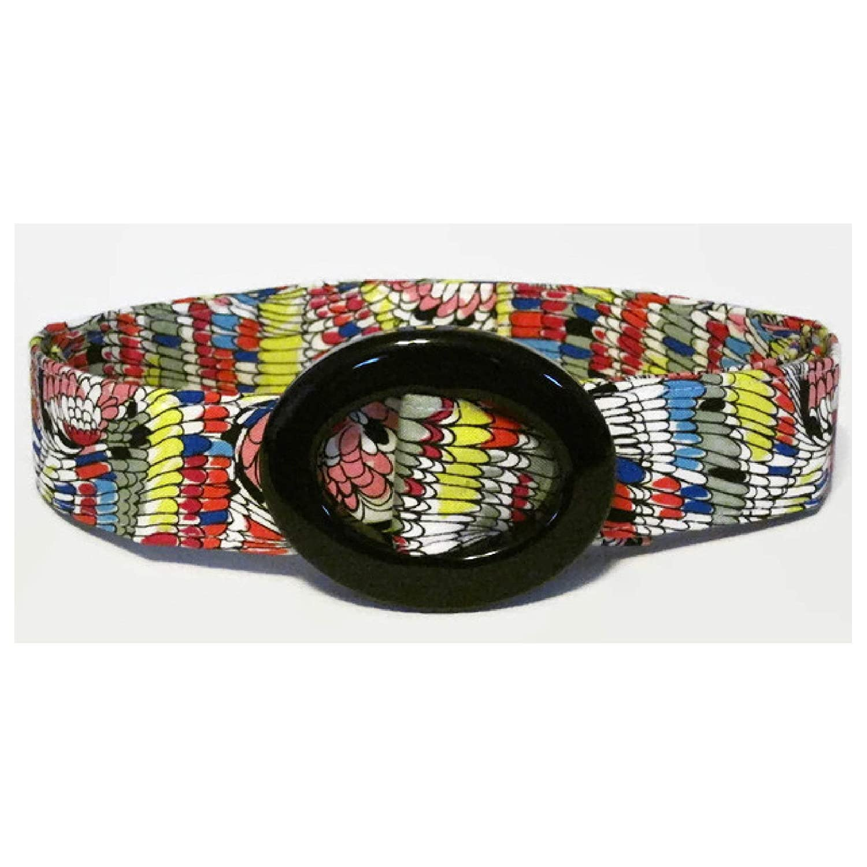 Women's Fabric Belt/Colorful Fabric Belt/Womens Ribbon Belt/Preppy Cloth Belt - Abstract colorful feathers/Wide Belt Skinny Belt/Plus Sized Belt