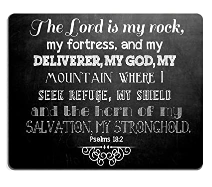 Psalms Quotes | Amazon Com Wknoon Mouse Pad Christian Inspirational Quotes Bible