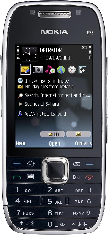 Nokia E75 - Smartphone Libre - Negro (teclado QWERTY): Amazon.es: Electrónica