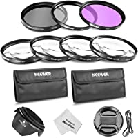 Neewer 52MM Professional Lens Filter and Close-up Macro Accessory Kit for NIKON D7100 D7000 D5300 D5200 D5100 D5000 D3300 D3200 D3100 D3000 D90 D80 DSLR Cameras- Includes Filter Kit (UV, CPL, FLD) + Macro Close-Up Set (+1, +2, +4, +10)+ Filter Carrying Pouch + Tulip Flower Lens Hood + Center Pinch Lens Cap with Cap Keeper Leash + Microfiber Cleaning Cloth