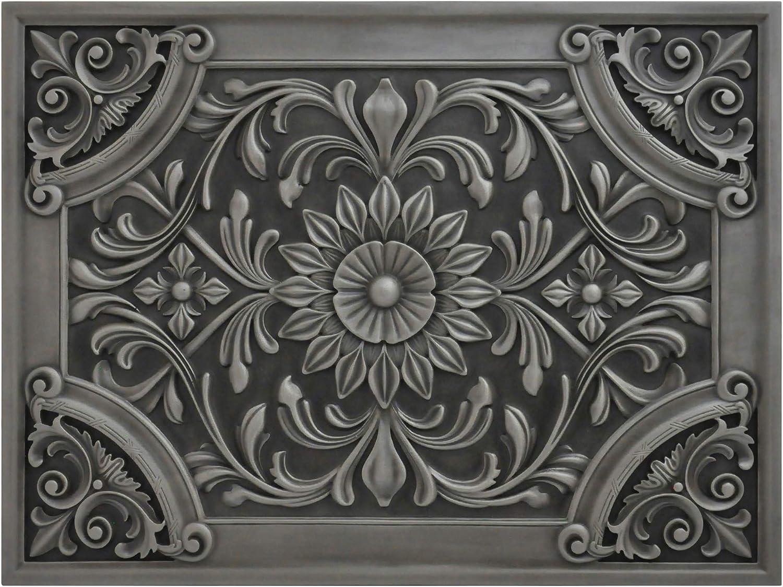 Kitchen Backsplash Premium Antique Nickel Metal Resin Mural Medallion Hand Made Textured Tile Amazon Ca Home Kitchen