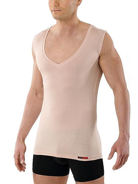 Pico Con Camiseta Interior Extra ProfundoSin Y Suave Cuello De Micromodal Invisible Hombre Mangay Kreuz Elálstico Albert Carne Muy Para Color D2EIW9H