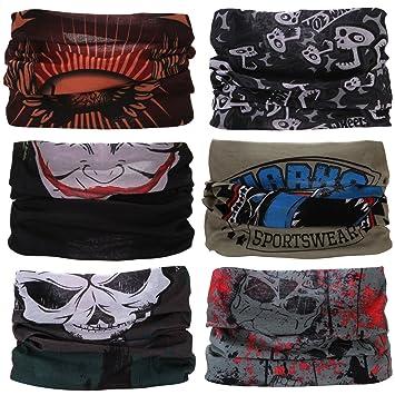 12 Arten Wahl Kopftuch Stirnband Kopftuch ect. Motorrad Bandana Sea Team 6 St/ück//Packung gedruckt Bandanas Multifunktionstuch