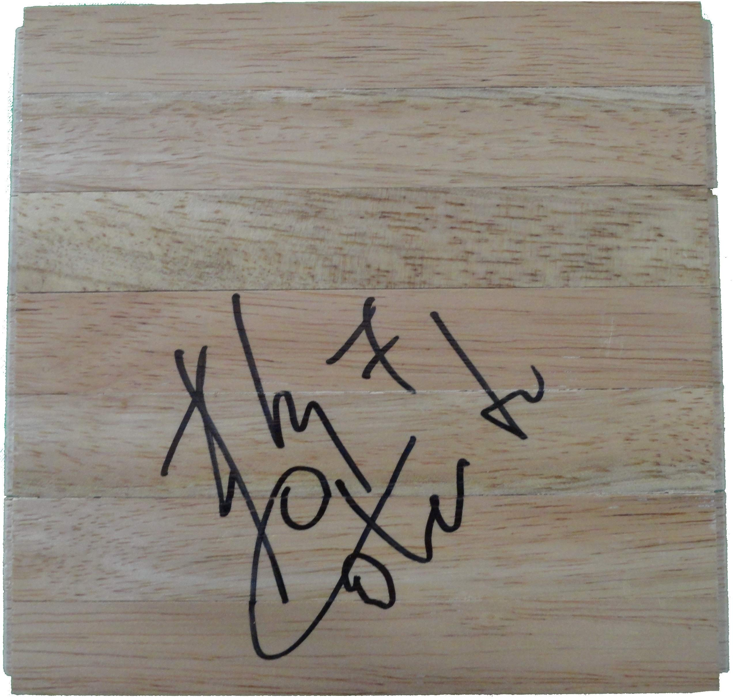 San Antonio Spurs Fabricio Oberto Autographed Hand Signed 6x6 Parquet Floorboard with Proof Photo of Signing, Washington Wizards, COA Basketball Floor Boards
