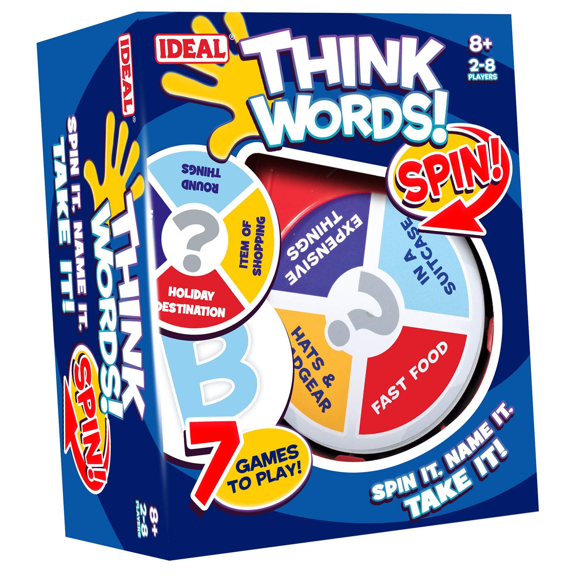 John Adams 10455 Think Words Spin Game, Multicolor