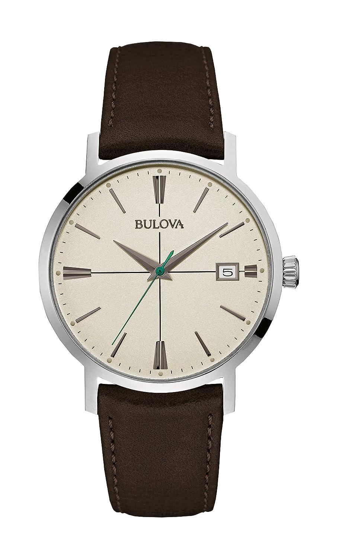 Bulova Classic Aerojet 96B242 - Herren Designer-Armbanduhr - Armband aus Leder - Dunkelbraun