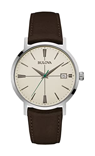 78d0e26b5 Image Unavailable. Image not available for. Colour: Bulova Men's Designer Watch  Leather Strap - Dark Brown Classic Aerojet Wrist ...