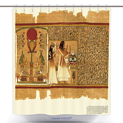 Amazon Com Vanfan Mildew Resistant Shower Curtains Ancient Egyptian
