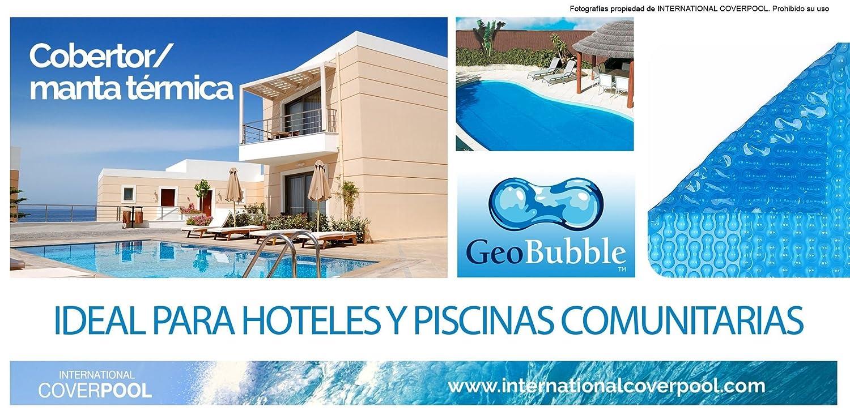 Cubiertas térmicas Geo Bubble 5x3 metros Sin Refuerzo 500 micras espesor Piscinas: Amazon.es: Jardín