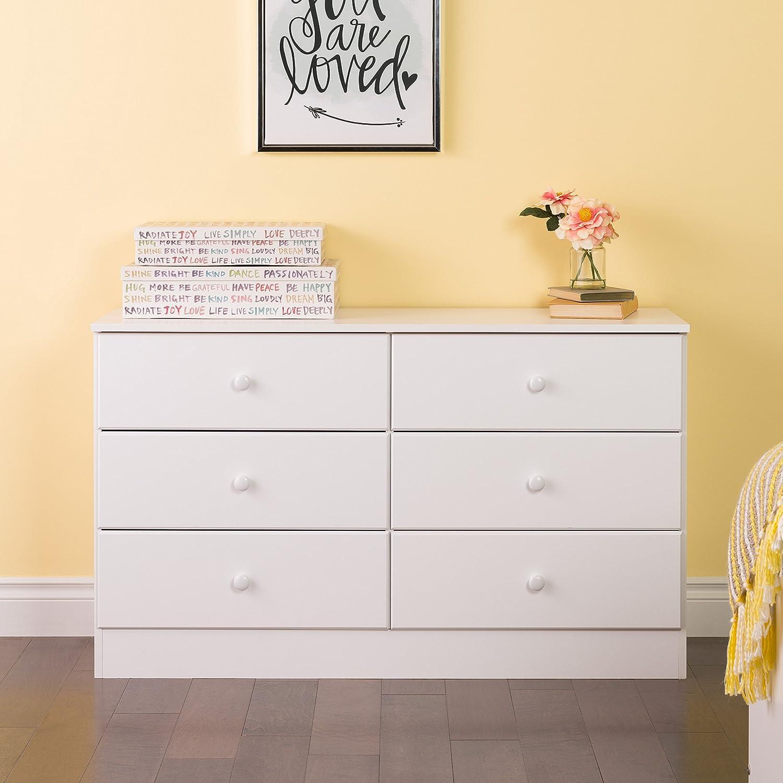 Prepac Astrid 6-Drawer Dresser, Black BDBR-0402-1