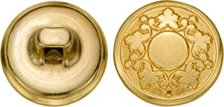 product image for C&C Metal Products 5339 Abstract Grape Vine Metal Button, Size 24 Ligne, Gold, 72-Pack
