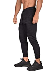 YoungLA Mens Joggers Pants Slim Sweatpants Training Gym Fitness Zippered Pockets 217