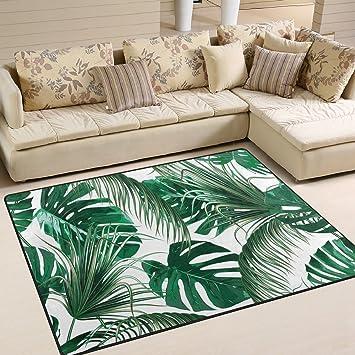 Amazon Com Alaza Tropical Palm Tree Leaves Jungle Leaf Green Area
