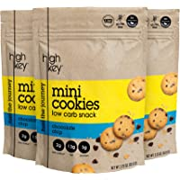 HighKey Snacks Keto Mini Cookies – Chocolate Chip, Pack of 3, 2.25oz Bags – Keto Friendly, Gluten Free, Low Carb, Healthy Snack - Sweet, Diet Friendly Dessert – Ketogenic Food with Natural Ingredients