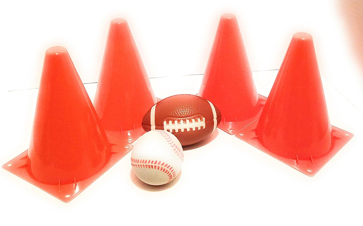 Sports Cones With Small Baseball and Football Kittymane