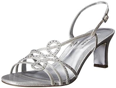 Nina Womens Garland FY Dress Sandal Silver Size 85